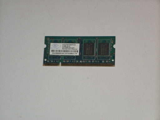 Nanya 512 MB PC2-3200 DDR2-400 400MHz Laptop Memory Ram NT512T64UH8A0FN-5A