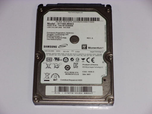 "Samsung 2.5"" SATA 160 GB 5400 RPM HDD Laptop Hard Drive ST160LM003"