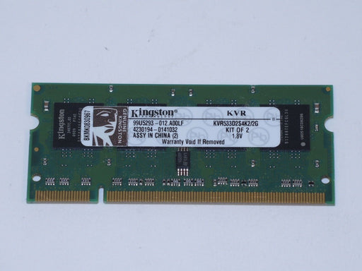 Kingston 1 GB PC2-4200 DDR2-533 533 MHz Laptop Memory RAM KVR533D2S4K2/2G