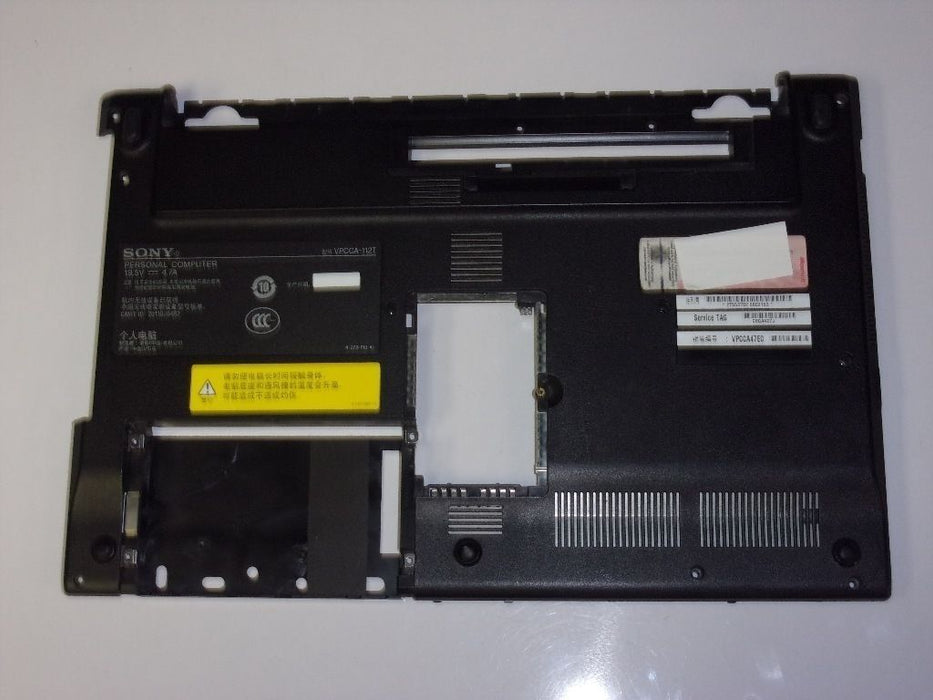 Sony VAIO VPCCA Series Laptop Bottom Case Black 012-101A-5908-A 4-270-743