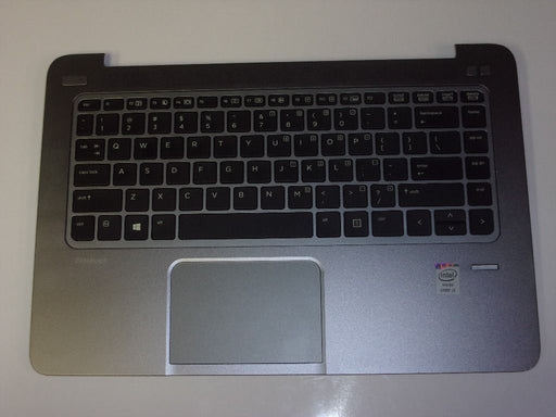 HP EliteBook Folio 1040 Touch Pad Palmrest w/Keyboard Gray 739576-001