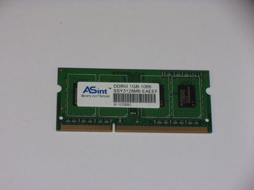 ASint 1 GB PC3-8500 DDR3-1066 1066 MHz Laptop Memory RAM SSY3128M8-EAEEF