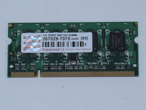 Transcend 1 GB PC2-6400 DDR2-800 Laptop Memory RAM JM800QSU-1G-EF