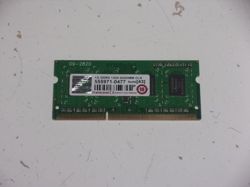 Transcend 1 GB PC3-10600 DDR3-1333 Laptop Memory RAM Sodimm 555971-0477