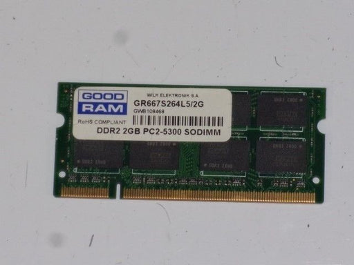 Good RAM 2 GB PC2-5300 DDR2-667 Laptop Memory RAM Sodimm GR667S264L5/2G