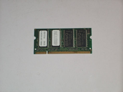 Bravo 256 MB PC2700 DDR-333 333 MHz Laptop Memory RAM 32VND