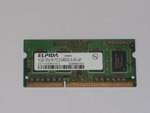 Elpida 1 GB PC3-6400 DDR3-800 Laptop Memory RAM EBJ11UE6BAU0-8C-E