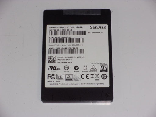 "SanDisk 2.5"" SATA 128 GB SSD Laptop Solid State Drive SD7SB6S-128G-1012"