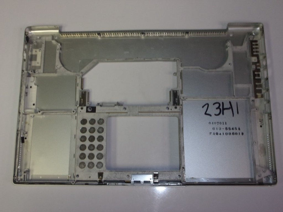 "Apple PowerBook G4 A1085 Laptop Bottom Case Silver 613-5545A ""B"""