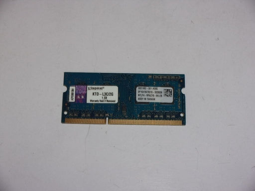 Kingston 2 GB PC3-12800 DDR3-1600 Laptop Memory RAM KTD-L3C/2G