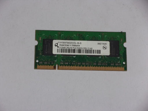 Qimonda 512 MB PC2-5300 DDR2-667 667 MHz Laptop Memory Ram HYS64T64020HDL-3S-B