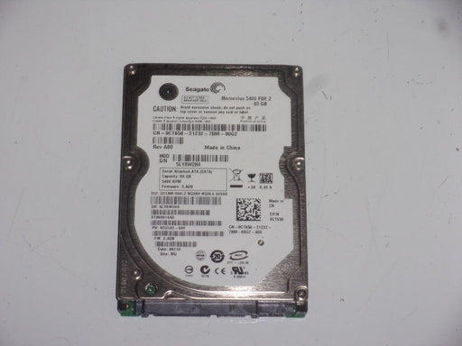 "Seagate 2.5"" SATA 80 GB 5400 RPM HDD Laptop Hard Drive ST980816AS"