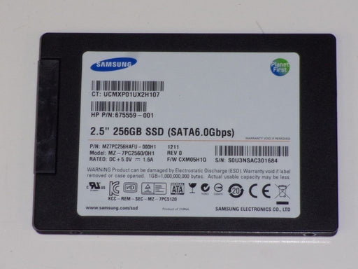 Samsung SATA 256 GB SSD Laptop Solid State Drive MZ7PC256HAFU-000H1