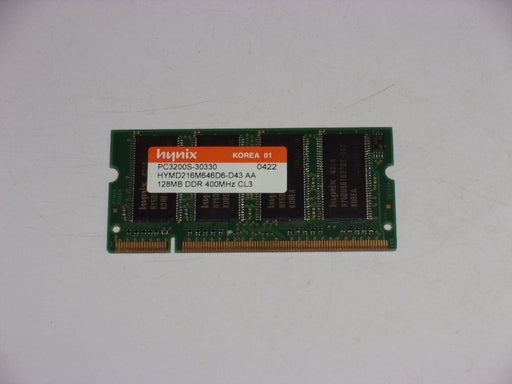 Hynix 128 MB PC3200 DDR-400 Laptop Memory RAM HYMD216M646D6-D43