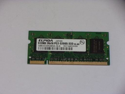 Elpida 512 MB PC2-3200 DDR2-400 400 MHz Laptop Memory RAM EBE52UD6ABSA-4A-E