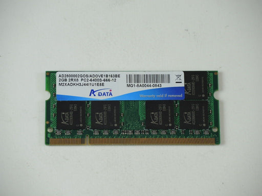 ADATA 2 GB PC2-6400 DDR2-800 800MHz Laptop Memory Ram AD2800002GOS ADOVE1B163BE