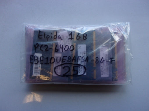 Lot of 25 Elpida 1 GB PC2-6400 DDR2-800 Laptop Memory RAM EBE10UE8AFSA-8G-F