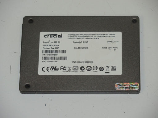 "Crucial 2.5"" SATA 256 GB SSD Laptop Solid State Drive CT256M4SSD1"