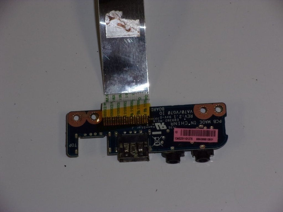 Acer Aspire E1-731 Audio Jack Board USB w/Cable 69N099B10B01 - Discountedlaptopparts