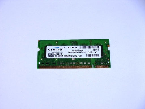 Crucial 1 GB PC2-4200 DDR2-533 533 MHz Laptop Memory RAM CT12864AC53E.8FE