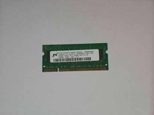 Micron 256 MB PC2-3200 DDR2-400 400MHz Laptop Memory Ram MT4HTF3264HY-40EB3