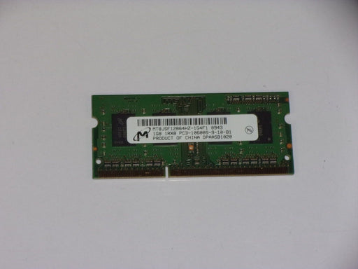 Micron 1 GB PC3-10600 DDR3-1333 1333 MHz Laptop Memory RAM MT8JSF12864HZ-1G4F1