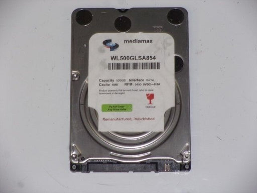 "Mediamax 2.5"" SATA 500 GB 5400 RPM HDD Laptop Hard Drive WL500GLSA854"