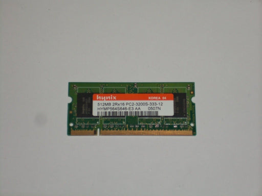 Hynix 512 MB PC2-3200 DDR2-400 400MHz Laptop Memory RAM HYMP564S646-E3