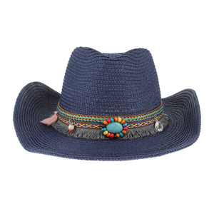 Ethnic Handmade Knitted Straw Hat Women Men Summer Hats Western Cowboy Hat  Jazz Church Cap Sombrero Cap Sunhats