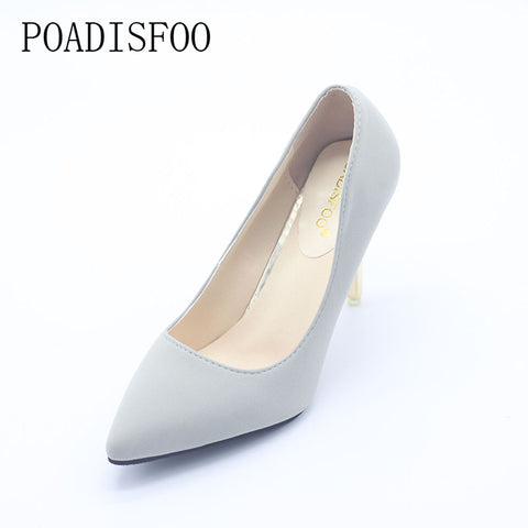 Classic Women's Pumps Shoes Casual Pumps For Lady Black Color Thin Heel High Heel Shoes For Lady 3 Color