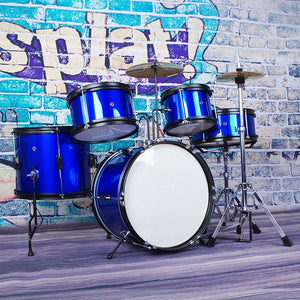 Red/Blue 5-PC Child Junior JR Drum Set Kit +Drumstick+Throne +Cymbl Starter For Musical Percussion Instruments Lover Gift