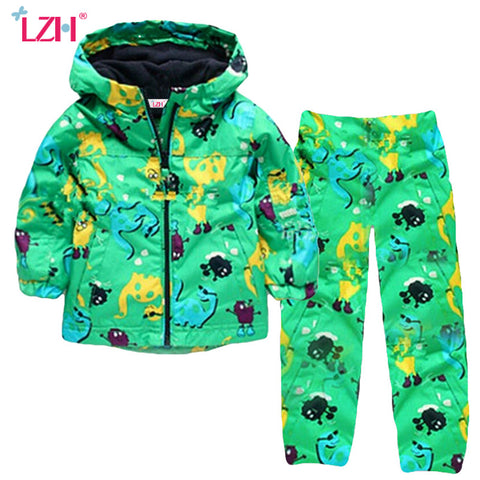 LZH Children Boys Clothes 2017 Autumn Winter Kids Girls Clothes Dinosaur Jacket+Pant Outfit Christmas Suit For Boy Clothing Sets