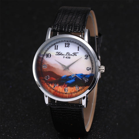 Luxury Fashion Women Quartz Feather Wrist Watchst Gift