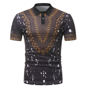 0abfb5ce979b Brand Dashiki Polo Shirt Men 2018 Summer New African Print Short Sleeve Polo  Homme Casual Slim