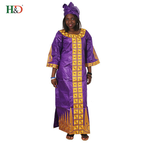 African Cotton 100%  For Women bazin riche dress head wraps African African Custom Clothes dashiki