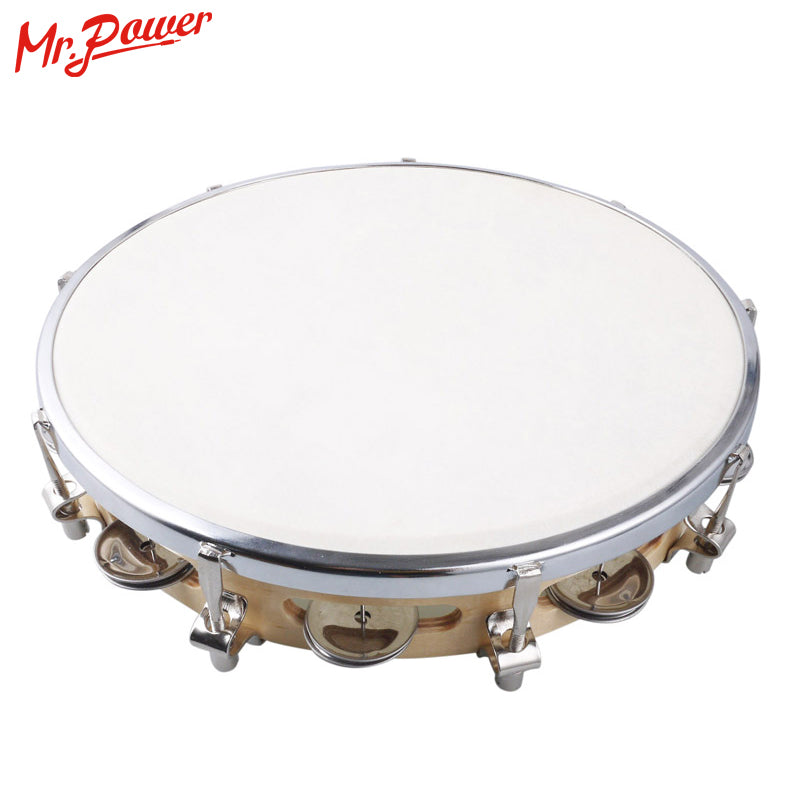 "10"" Tambourine Capoeira Leather Drum Pandeiro Samba Brasil Wooden Tamborine Precussion Music Instrument For Sale 150 D"