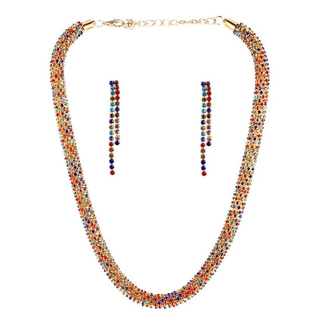 Bridal Gift Nigerian Wedding African Beads Jewelry Set Brand Woman Fashion Dubai Gold Silver Jewelry Set Wholesale Design