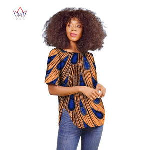 2018 Autumn africa clothes woman New Dashikis 6xl africa clothing Women traditional african clothing cotton Top plus size WY2096