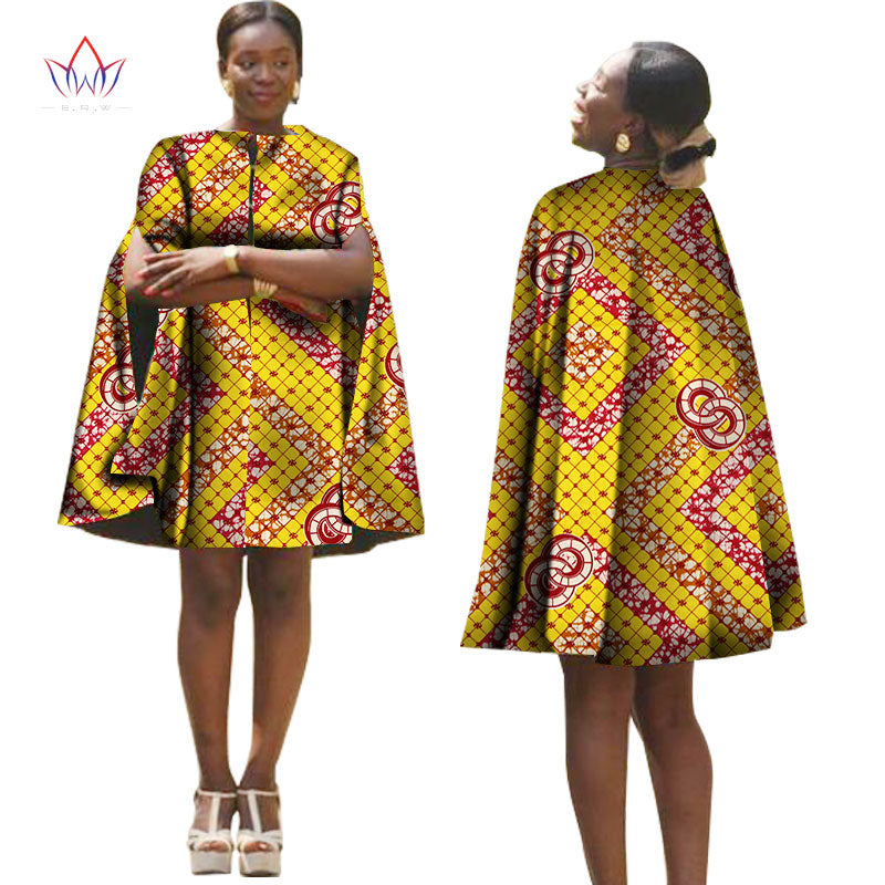 3721fb8da4 Summer Africa Women Dress With Cloak African Traditional Pattern Printed  Dresses Back Zipper Plus Size Party ...