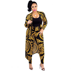 2019 New African Print Elastic Bazin Baggy Pants Rock Style Dashiki SLeeve Famous For Lady/women coat and leggings 2pcs/se