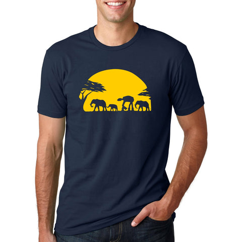 Elephants bodybuilding T Shirt for Men