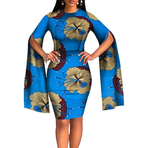 Dashiki African Dresses for Women Bazin Riche Long Sleeve African Dresses Ankara Fashion Elegant African Clothing