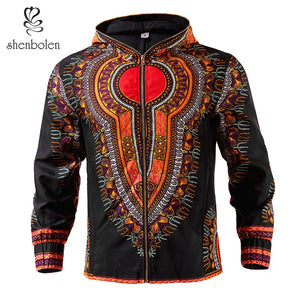Shenbolen African Men's Jacket dashiki men Clothes hoodie wax fabric Blazer coat High Quality plus size