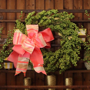 "22"" Classic Green Berry Wreath"