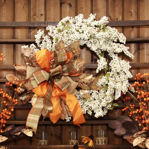 "22"" Classic White Berry Wreath"