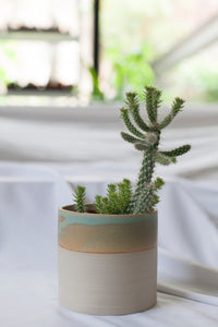 Ceramic Turquoise Basic planter - Laurette Broll for FR GM NTS