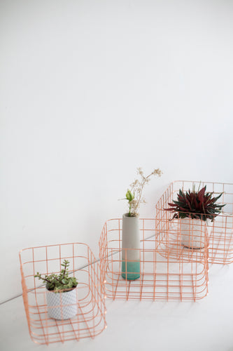Basket Grid - Copper - Set of 3