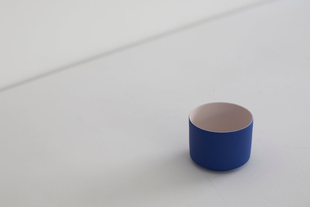 Porcelain 2-tone mini planter - pink+blue