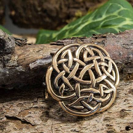 Brooch Celtic knot Large Bronze