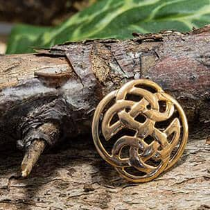 Brooch Celtic knot Bronze